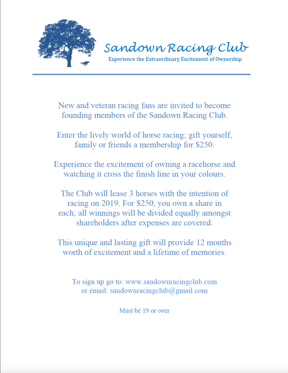 Sandown Racing Club Callout